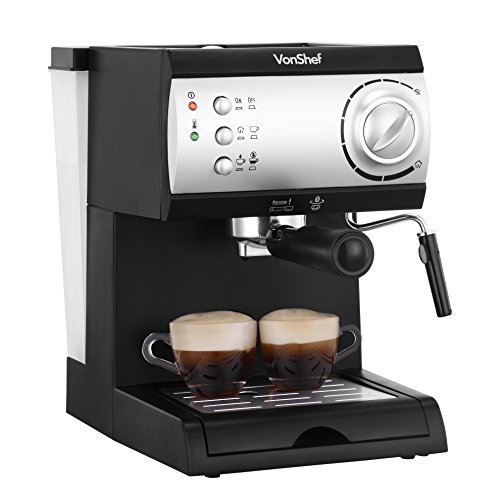 Vonshef Coffee Maker Reviews : VonShef Electric 15 Bar Automatic Espresso and Cappuccino Coffee Maker Machine Product Reviews