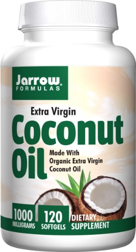 Jarrow Formulas Coconut Oil 100% Organic  Extra Virgin, Supports Cardiovascular Health, 1000 mg, 120 (Formulas Organic Coconut Oil)