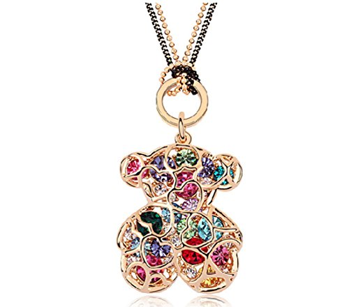 warovski Element Crystal Sweater Chain - Winnie the Pooh (C2) ()