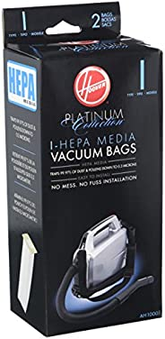Hoover Platinum Collection Canister Vacuum Cleaner Type I HEPA Bag (2-Pack), AH10005, 2 Count