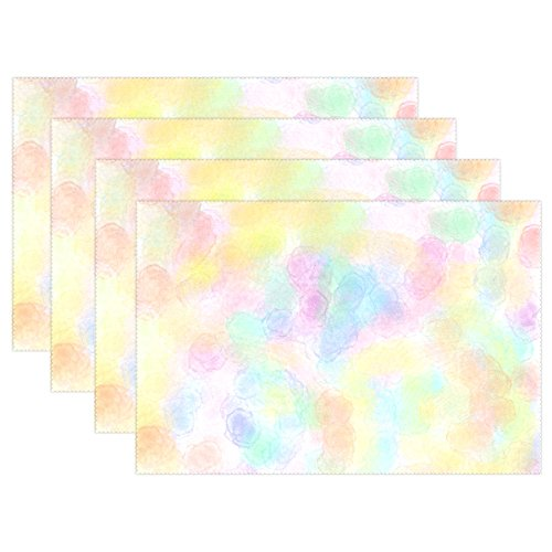 YPink Pastel Scrapbook Paper Shades Spetters Placemats Set Of 4 Heat Insulation Stain Resistant For Dining Table Durable Non-slip Kitchen Table Place ()