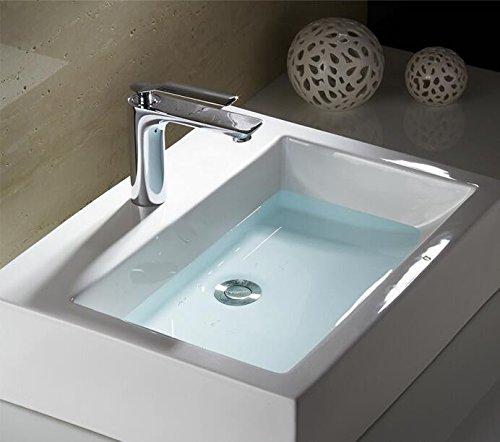 Mangeoo Waschbecken Waschbecken Waschbecken Wasserhahn, heiße und kalte Kupfer, Einloch, Sitzbank Waschbecken, Waschbecken und Wasserhahn 08e202