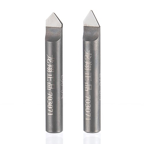 HUHAO 1PC 6mm HSS Router End Mill Diamond PCD Tools Stone Hard Granite Cutting Engraving Bits 70 90 Degree CNC Cutter for Marble (5397)