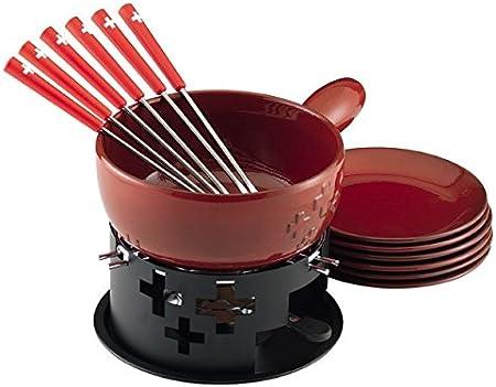 KUHN RIKON 32202/Set di Fondue al Formaggio Croce Svizzera Ceramica Rosso 24/x 24/x 17/cm