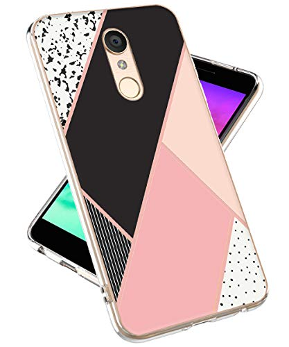 LG K30 Case,LG Phoenix Plus Case, LG Premier Pro LTE Case,lovemecase Marble Design Clear Bumper TPU Soft Case Rubber Silicone Skin Cover for LG K30/LG K10 2018 (Pink Marble)