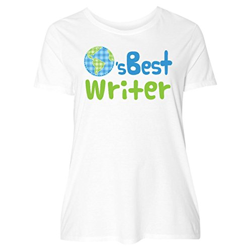 inktastic Worlds Best Writer Women's Plus Size T-Shirt 5 (30/32) White 19bc7 (Writer Best Worlds)