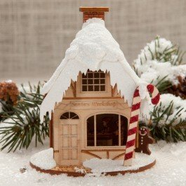 ( Santa's Workshop Ornament Ginger Cottage Find the Secrets inside)