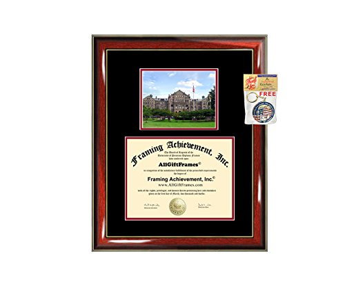 Catholic University of America Diploma Frame Graduation Degree Frame - Matted CUA College Campus Photo Graduation Gift Certificate Plaque Diploma Framing College by Framing Achievement Inc University Diploma Frame