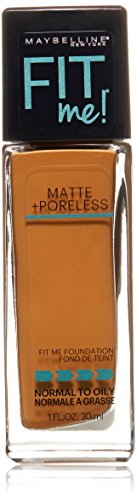 Maybelline New York Fit Me Matte Plus Pore Less Foundation, Cappuccino, 1 Fluid Ounce