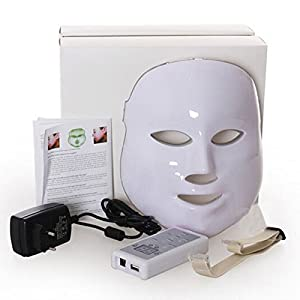 iwa LED Facial Mask 3 Colors Light Photon Tester Skin Rejuvenation Anti Acne Wrinkle Removal Therapy Moisturizing Brightening Complexion