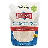 Redmond Real Salt Fine Salt Natural Unrefined Organic Gluten Free Fine- 26 ounce pouch (1 Pack)