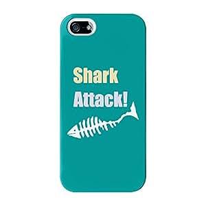 SHARK Attack Full Wrap Case, para iPhone 5/5S Impreso en 3d de alta calidad de barbacoa