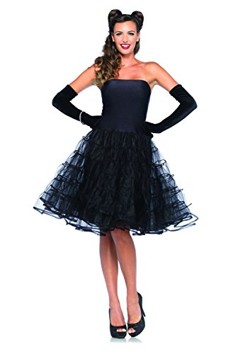 Rockabilly Costume Women (Leg Avenue Women's Rockabilly Swing Dress, Black, Medium/Large)