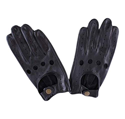 - Black Delta Leather Driving Gloves by Dents - 10 - 10½ - Dents