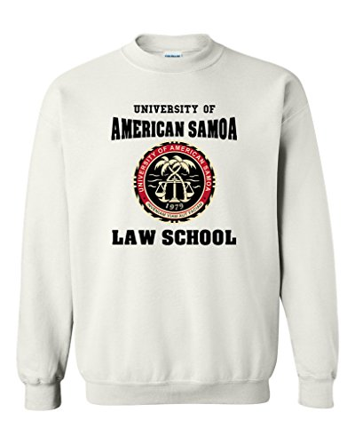 University of American Samoa Law School DT Novelty Crewneck Sweatshirt (Large, White)