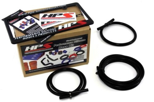HPS Black Silicone Vacuum Hose Kit for 99-01 Subaru Impreza 2.5RS CG8 EJ25