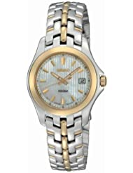Seiko Womens SXDB88 Dress Two-Tone Solid Stainless-Steel Case and Bracelet White Mother-of-Pearl Dial Watch