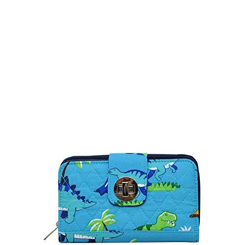 Friendly Dinosaur NGIL Quilted Twist Lock Wallet ()