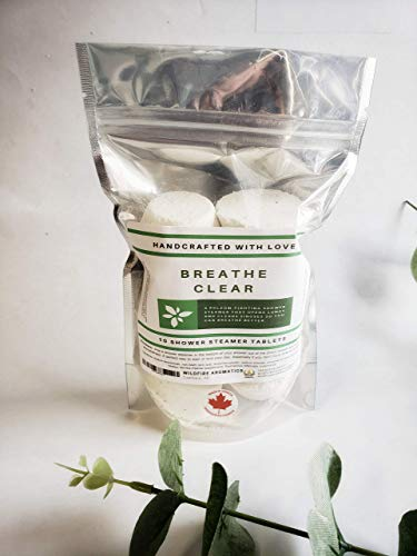 - Breathe Clear eucalyptus peppermint blend, Shower steamers with essential oils, 10 tablets, Wildfire Aromatics