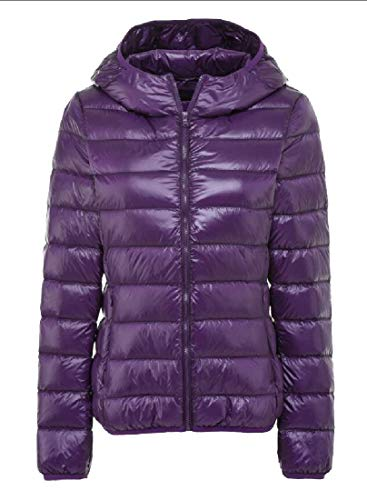 Hooded Packable Coat EKU Outdoor Purple Jacket Insulated Lightweight Women's Down YUq6O