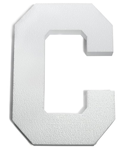 White Styrofoam Letter C - 8 inches Wide x 11 3/8 inches high x 1 inch deep Decorating Supplies