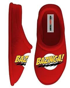 Big Bang Theory Bazinga Red Plush Pantuflas | XL
