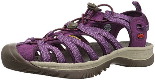 (KEEN Women's Whisper-W Sandal, kiss/Grape Wine, 9 M US)