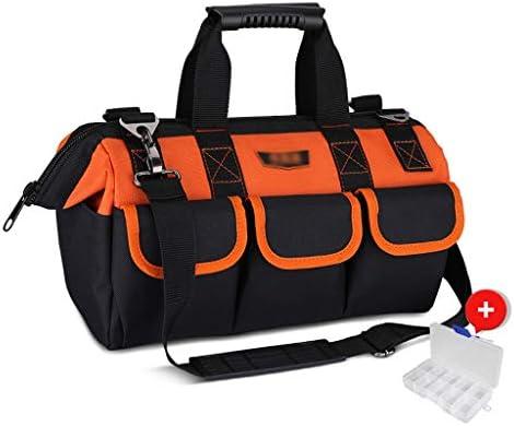 ツールオーガナイザー ツールトートバッグ多機能二重層厚み付けオックスフォード布ツールバッグの耐摩耗ハードウェア部品のためのポータブル園芸工具収納袋は、調節可能なショルダーストラップが付属します ポータブルツールボックス (Color : Orange-b, サイズ : 13 inches)