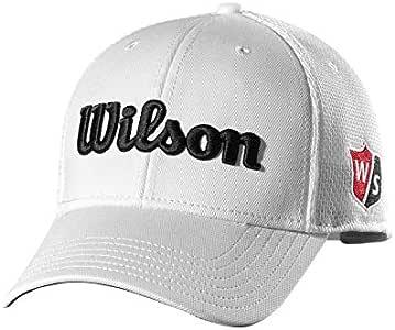 Wilson Staff Tour Mesh Cap Gorra de Golf, para Hombre, ala Curva, tamaño Ajustable, Blanco, OSFA: Amazon.es: Deportes y aire libre