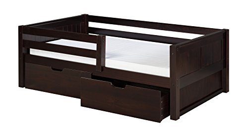 Camaflexi Panel Style Solid Wood Daybed with Drawers and Fro