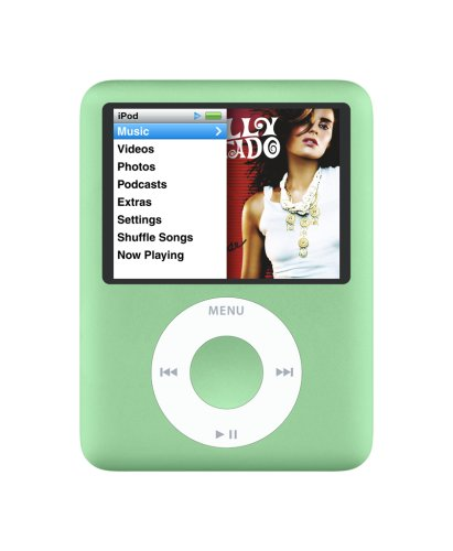 Apple iPod nano 8 GB Green (3rd Generation)  (Discontinued by Manufacturer) (Gadgets Nano Ipod)