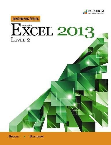 Benchmark Series: Microsoft (R) Excel 2013 Level 2: Text with data files (Backcountry Package)