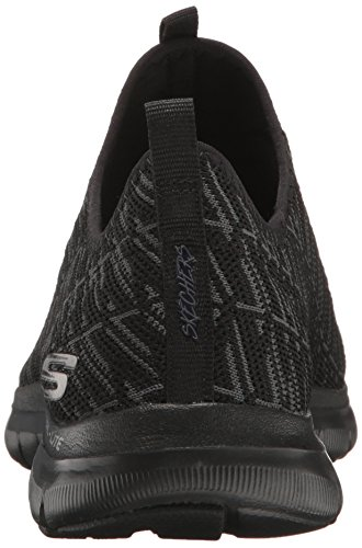 Skechers Flex Appeal 2.0-Insights, Zapatillas Sin Cordones Para Mujer Negro (Black)
