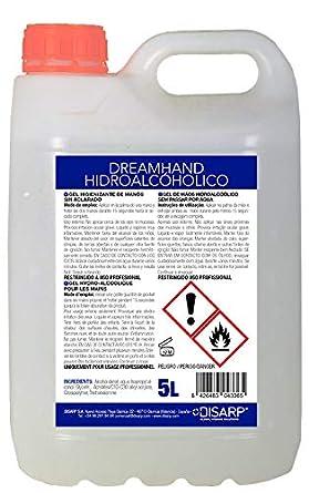 Gel higienizante de manos por fricción, antibacterias de secado instantáneo. Envase 5 Litros
