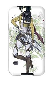 Galaxy High Quality Tpu Case/ Anime Shingeki No Kyojin Mikasa Ackerman MCyJWJF10644HhZeb Case Cover For Galaxy S5