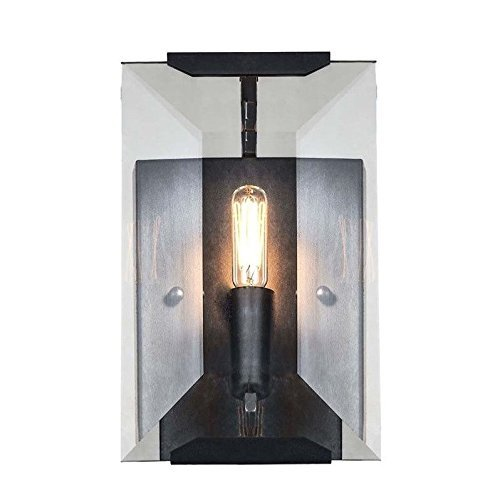 (Elegant Lighting 1212W6FB Monaco Collection 1-Light Wall Sconce, 6