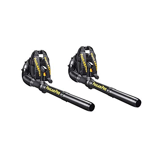 Poulan Pro 46cc Gas Backpack Yard Leaf Blower (2 Pack) (Renewed)