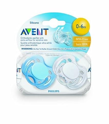 Philips AVENT libre de BPA Freeflow Chupete, 0-6 Meses, 2 ...
