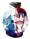 Alistyle Fanient Unisex Fashion 3D Digital Galaxy Pullover Hooded Hoodie Sweatshirt Athletic Casual with Pockets