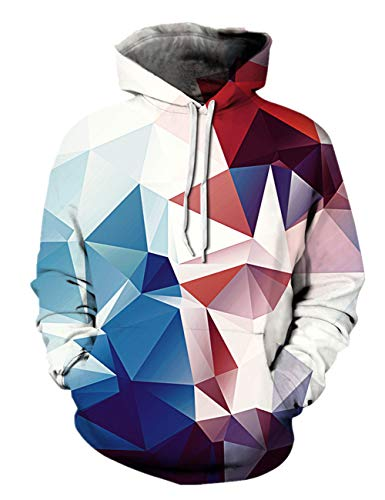 Alistyle Fanient Unisex Fashion 3D Digital Galaxy Pullover Hooded Hoodie Sweatshirt Athletic Casual with Pockets by Alistyle