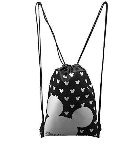 MICKEY MOUSE BACKPACK DRAWSTRING BACKPACK SLING TOTE BAG NWT DISNEY LAND SILVER