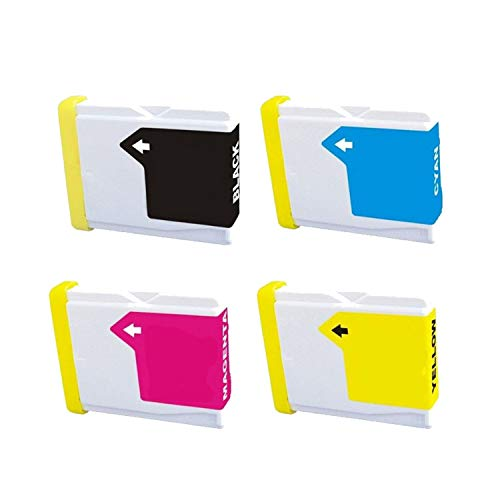 - 4 Pack Compatible Ink Cartridge Replacement for Brother LC 51 LC-51 LC51 1 Black 1 Cyan 1 Magenta 1 Yellow