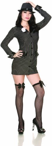 Delicious Allie Capone Costume, Black/White, Large
