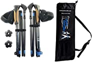 York Nordic Ultralight Folding Walking Poles - Travel Ready - 8.6 oz Each, 15.5 in collapsed, Includes Feet, B
