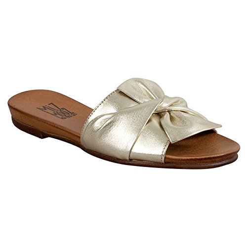 Miz Mooz Angelina Seasonal Women's Slide Sandal Gold