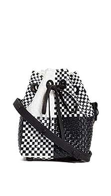 Truss Women's Mini Handwoven Bucket Bag, Black Multi, One Size