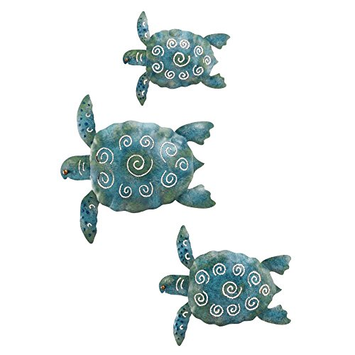 Tropical Wall Decor Art - Regal Art and Gift Sea Turtle Wall Decor, Set of 3