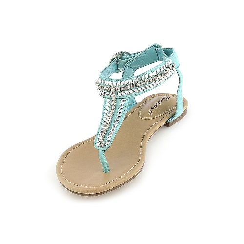 Breckelle's Womens Stacy-43 Sandal - Mint Green Size 8.5