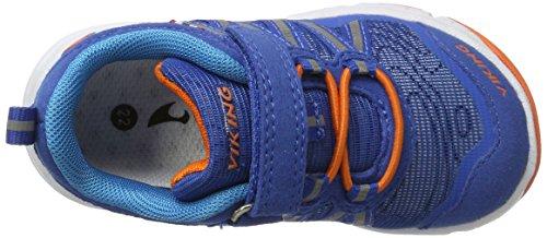 Viking Holmen, Zapatillas de Deporte Exterior Unisex Niños Blau (Royal/Orange)