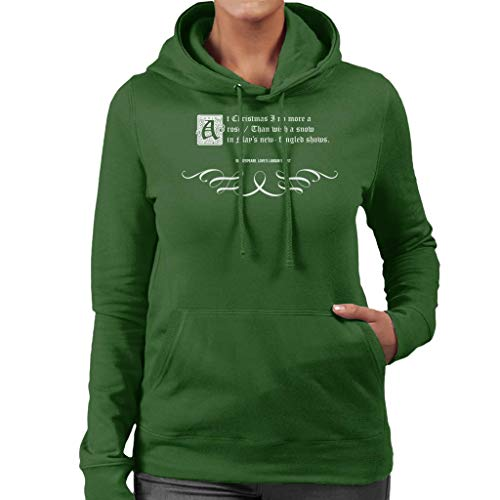 Loves Labours Lost Shakespeare Christmas Quote Women's Hooded Sweatshirt